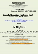 Journal of Education, Health and Sport